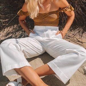 Aritzia White Culottes